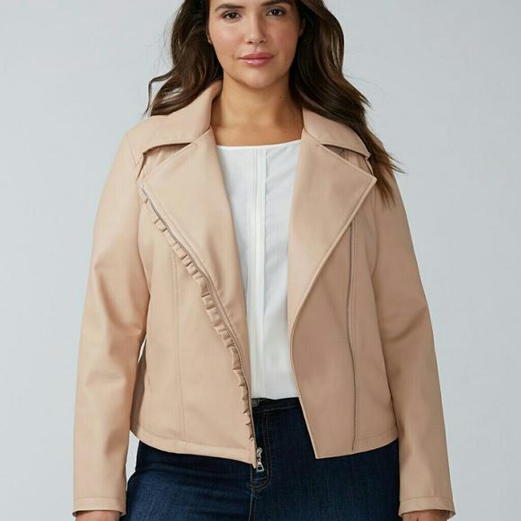 d696758b464 Lane Bryant Pink faux leather jacket 22 24